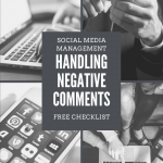 What is your organization's policy or procedure to handle negative comments on social media? Curious about where to start? Here are some tips and a FREE worksheet on how to address negative comments on social media! #entrepreneur #marketing #business #b2b #b2c #socialmedia