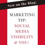 Are you wondering when you should get visible in your business on social media? NOW is the time! It doesn't have to be perfect, it just needs to offer value to your audience. By driving value you will help create your brand authority and establish YOU as the subject matter expert. So what are you waiting for... get visible today!